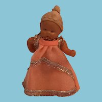 "3 1/2"" Celluloid Baby doll with an 'Angel' Mark"