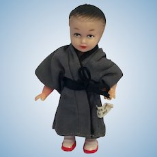 "Circa 1950s 4"" Hard Plastic Judo Fighter Doll"