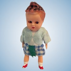"Circa 1950s 4"" Hard Plastic Scottish Toddler"