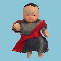 "Circa 1930s-40s  2 1/2"" Japanese Porcelain Toddler Doll"