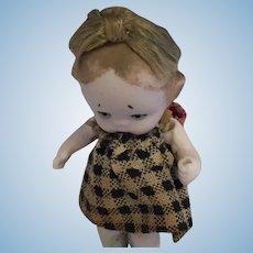 1990s Tiny Porcelain Frozen Charlotte Doll