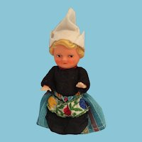"Circa 1960s 3"" Vinyl Blond Dutch Girl Doll"