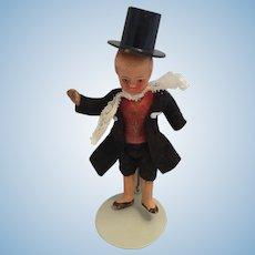Circa 1900s Dapper Bisque Dollhouse Boy Doll
