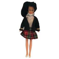 "Circa 1960s 4 1/2"" 'Mod' Bendable Vinyl Fashion Doll"