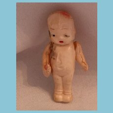 """Circa 1920s-30s  2 1/4"""" Celluloid Baby Doll with Bottle"""
