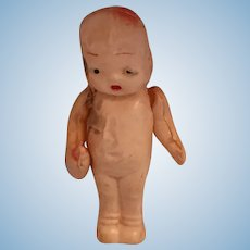 "Circa 1920s-30s  2 1/4"" Celluloid Baby Doll with Bottle"