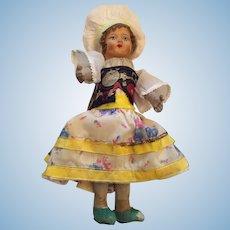 "Circa 1920s-30s 12"" Girl doll in Ethnic Costume"