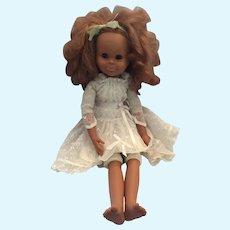 "Circa 1960s Beautifully Sculpted Vinyl 21"" Berjusa Girl Doll"