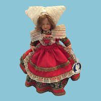 "8 1/2"" 'Parisette' Costume doll by Petitcollin Celluloid Co., Paris France, circa 1920s"