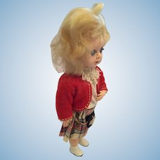 "Circa 1950s 7"" Hard Plastic Scottish Lassie Doll 'Made in England'"