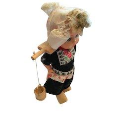 "Circa 1950s - 60s  7"" Hard Plastic Dutch Girl Doll"