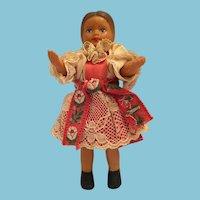 "1960s  6"" Vinyl Doll in Eastern European Traditional Costume"