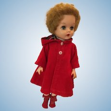 "Circa 1950s Dee an Cee 18"" Vinyl 'Red Riding Hood' Doll"