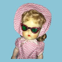 "1950s Reliable 17"" Tall Sally Ann Doll with Sun Glasses"