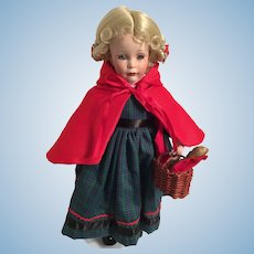 1990s Mint-in-Box 'Little Red Riding Hood' Porcelain Doll by Patricia Rose