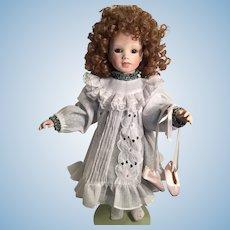 1991 Katrina 'Ballerina' Porcelain Doll by German Doll Artist Gaby Rademann