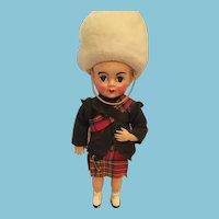 Circa 1950's Rosy-Cheeked Scottish Souvenir Doll, Jock