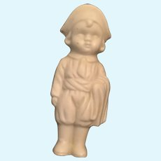 American or French Revolutionary Bisque Pillar Doll