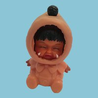 Vintage Three Faced Eskimo / Native Alaskan Rubber Doll