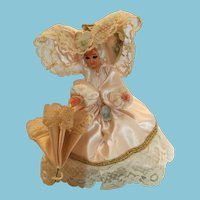 Circa 1970s Elegant Miss Souvenir Doll from Brussels