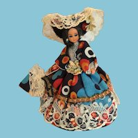 Circa 1970s Souvenir Elegant Miss Doll from Brussels