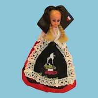 Circa 1980s Lady Doll in a Traditional Costume from the Alsace
