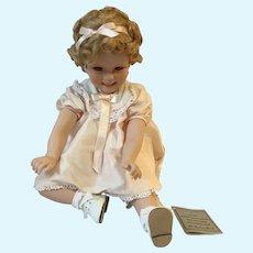 1997 Danbury Mint MIB 'Little Miss Shirley' Porcelain 'Toddler' Doll