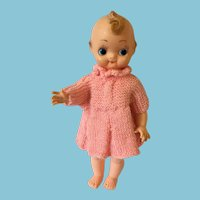 1960s Reliable Vinyl Wide-Eyed Doll with a Sweet Curly Lock