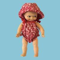 Circa 80s Sun Suit Kewpie Doll marked 'Cameo'