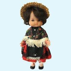 1950-1960s Costume Vinyl Doll Signed Re de Avila