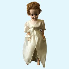 "Early 1950s 28"" Miracle Vinyl Sweet Rosemary Bride Doll"