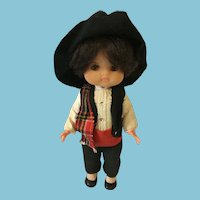 1950-1960s Re de Avila Soft Vinyl Gaucho Boy Doll