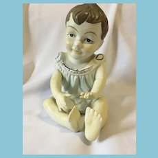 Circa 1940s - 50s Bisque Boy Piano Baby by Norleans