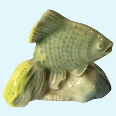 Miniature 'Wade Whimsies' Glazed Porcelain Angel Fish