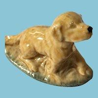 Miniature 'Wade Whimsies' Glazed Porcelain Irish Setter Dog