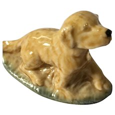 Miniature 'Wade Whimsies' Glazed Porcelain Irish Setter Dog