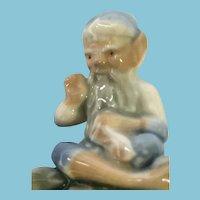 Miniature 'Wade Whimsies' Blue Hat Glazed Porcelain Shoe-making Fairy Folk