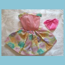 Fashion Doll 2 piece Sleeveless Pastel Cotton Sundress and Panties