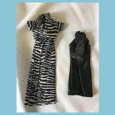 Fashion Doll 2 Piece Little Black Dress and Zebra Cocktail Coat Outfit