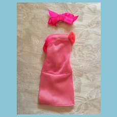 Fashion Doll Slinky Pink Dress and Matching Head Band