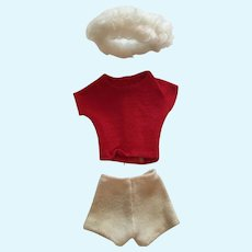 Fashion Doll Three Piece Shorts, T-shirt and Headband Outfit