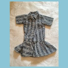 Fashion Doll Pale and Dark Blue Jeans Shirt-Dress