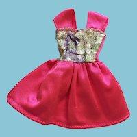 Fashion Doll Shocking Pink Slinky Party Dress Marked Barbie