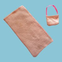 Fashion Doll Pretty Pale Pink Beach Blanket and Bag