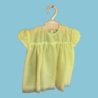 Circa 1950s 'Naomi - Made in England' Buttercup Yellow Dolly Party Dress