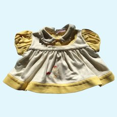 Circa 1950s Buttercup Yellow and White Jersey Dolly Blouse