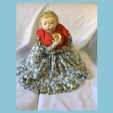 Circa 1930s- 40s Russian Cloth Tea Cozy Grannie Doll