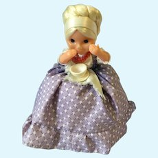 Circa 1950s Russian Cloth Tea Cozy Soft Plastic Grannie Doll