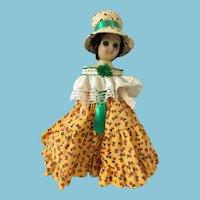 "Circa 1980s Panama  8"" White Plastic Doll"