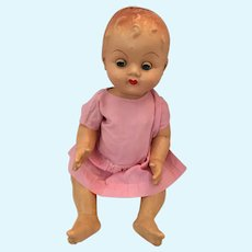 """Circa Mid 20th Century 16"""" Unmarked Composition Terri-Lee Mouth Child Doll"""